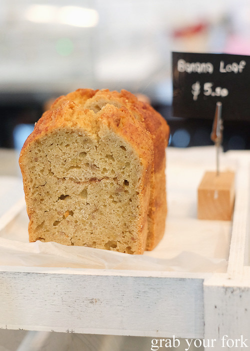 Banana loaf at Cafe Oratnek, Redfern