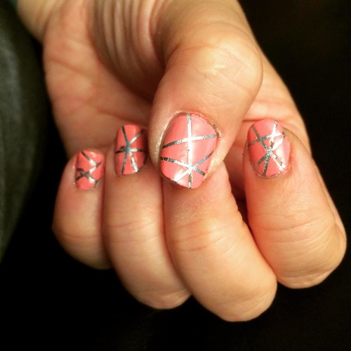 So hot/muggy today. Decided to play with striping tape. Fun, need to practice & better eyes to peel the tiny tape.