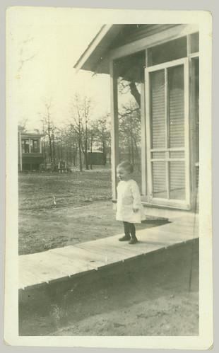 Child on a board walk