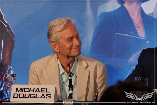 The Establishing Shot: MICHAEL DOUGLAS - ANT-MAN EUROPEAN PRESS CONFERENCE - CORINTHIA HOTEL LONDON