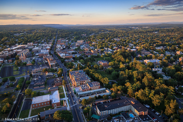 Downtown Saratoga From Above