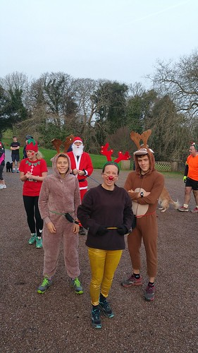 Christmas Eve parkrun - reverse route and a viking.