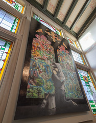 Banksy's Stained Glass Window
