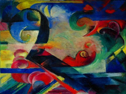 Franz Marc - Broken Froms, 1914 at Guggenheim Museum New York City, NY
