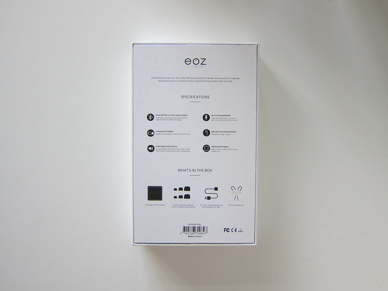 EOZ One - Box Back