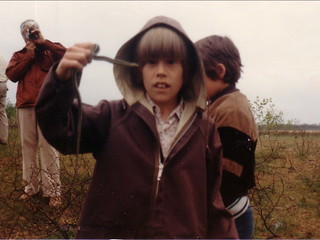 At the Narcisse Snake Dens, Manitoba, spring 1980