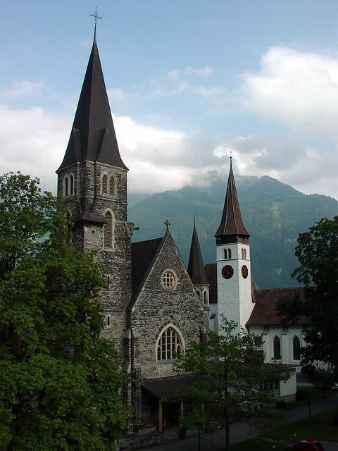 Two Churches In Interlaken Switzerland Two Small