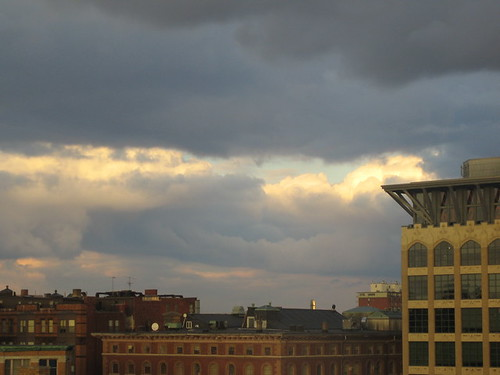 Clouds over  Boston