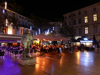 Jean Jaurès 的形象. place placejeanjaurès noël montpellier evening soir square night nuit