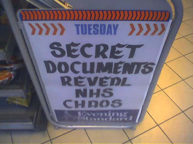 Secret Documents Reveal NHS Chaos