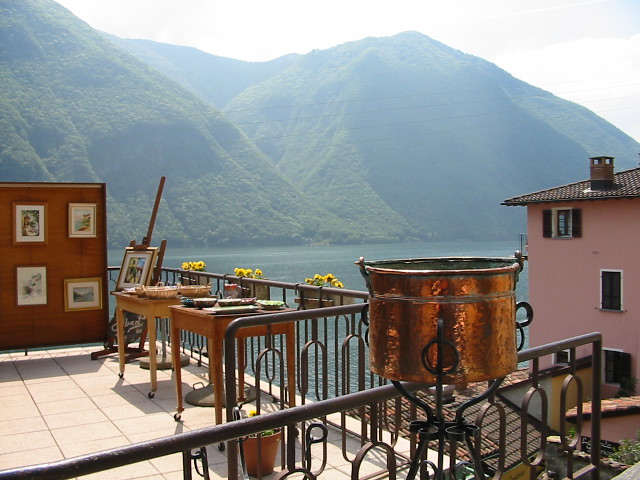 Gandria on Lake Lugano, Switzerland