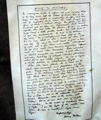 henry miller's letter to visitors
