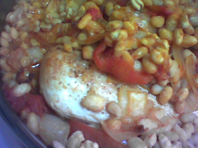 Dinner at Home: baked chicken with white beans and ...