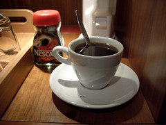 They never give you enough coffee, even in an expensive hotel room, so always buy yourself a small jar of instant coffee