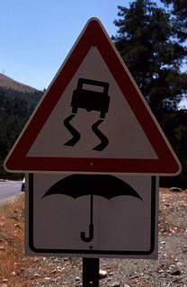 Turkey Road Sign