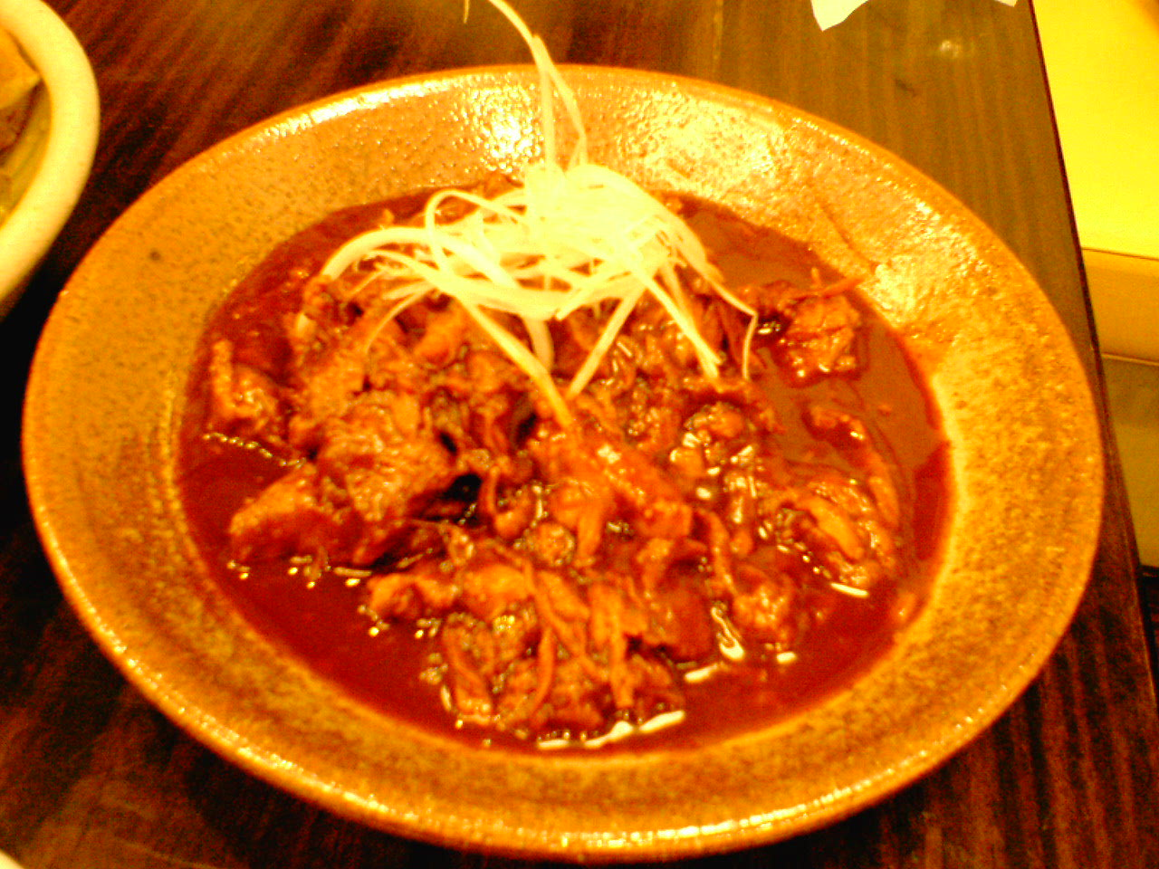 Doteyaki (shredded pork with miso)