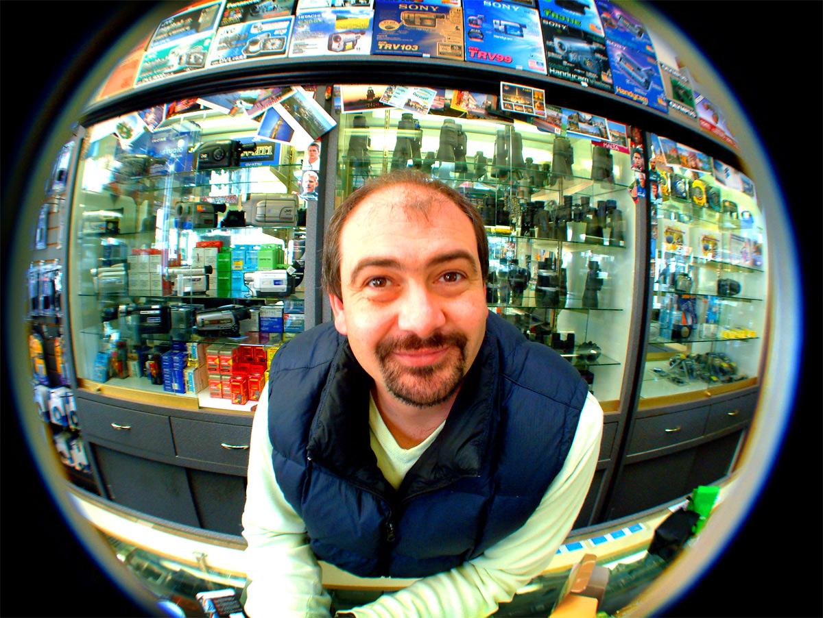 Camera store salesperson