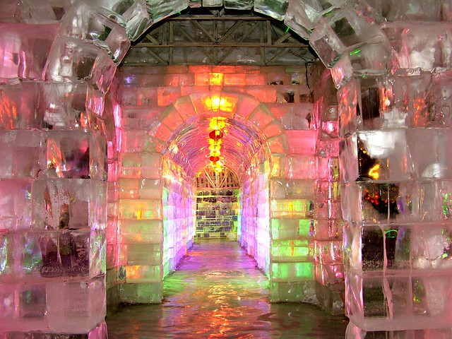 The sixth Harbin ice and snow world in Harbin, China