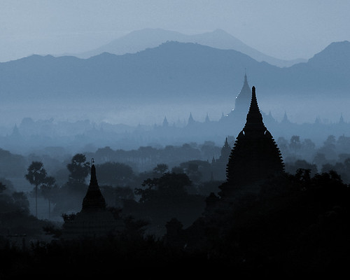 Bagan - blue dawn