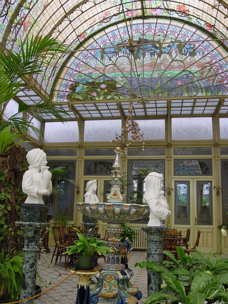 home garden un jardin d 39 hiver art nouveau. Black Bedroom Furniture Sets. Home Design Ideas