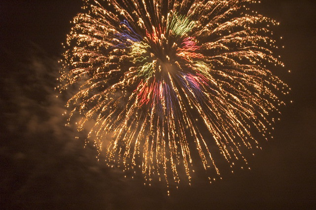 Fireworks in Ome