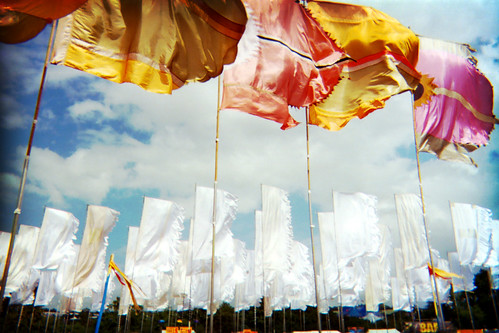 Flags by the Jazz Tent