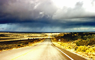 Rain in the desert, Arizona near the Black Mesa | by PhillipC