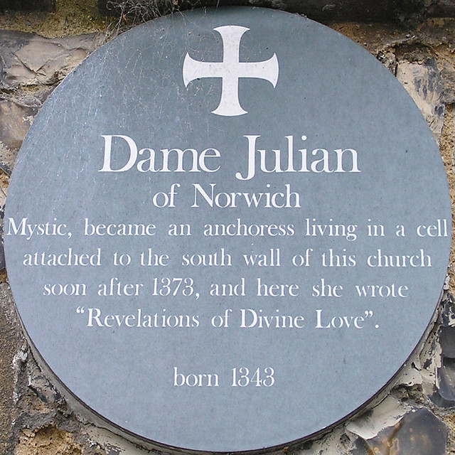 Photo of Julian of Norwich stone plaque
