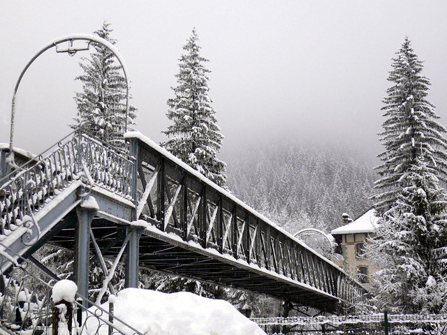 Bridge in the Snow, Chamonix