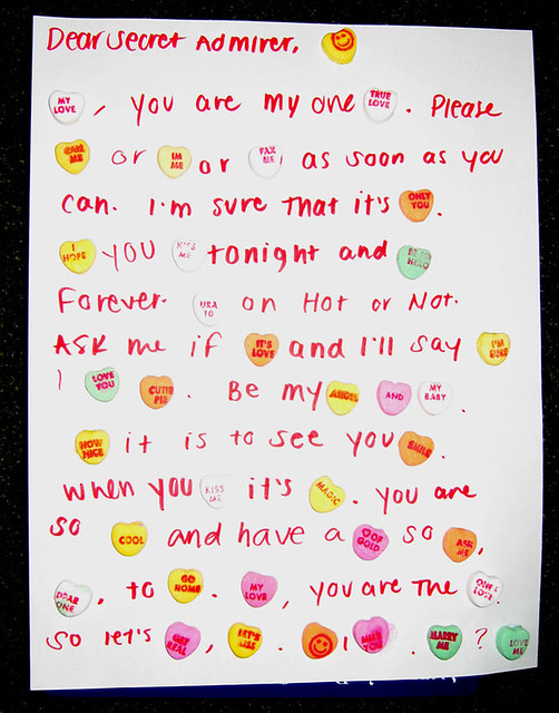 My letter to a secret admirer... | Valentines Day festivitie ...