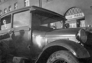 jutta in car - Poland 1933