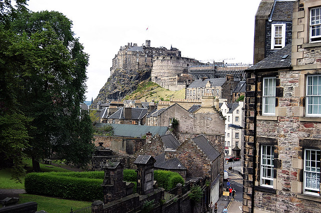 Edinburgh Castle, from The Elephant House