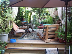 backyard, outdoor structure, garden, property, pergola, deck, patio, resort, real estate,