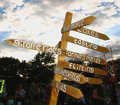 Signposts at Fruitstock 2005