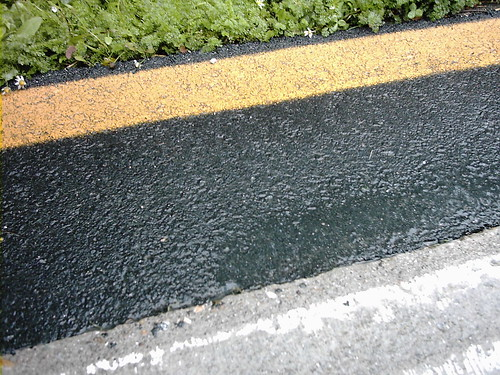 Wet road markings