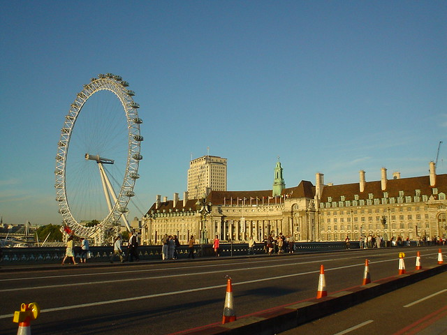 London Eye and County Hall From  Westminster Bridge by srboisvert, on Flickr