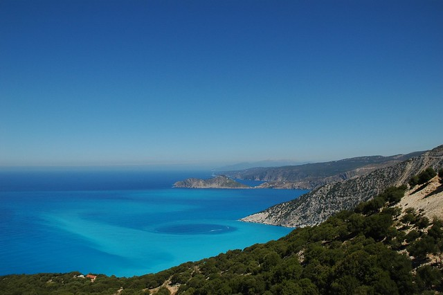 Panoramic view of Myrtos