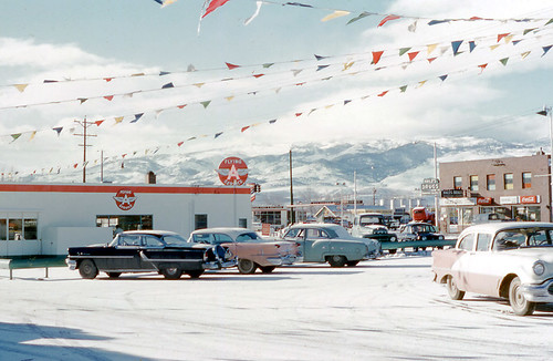 Flying A Service Station, Reno, Nevada ca. 1950's