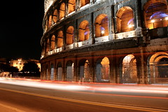 Rome's Colosseum by night.