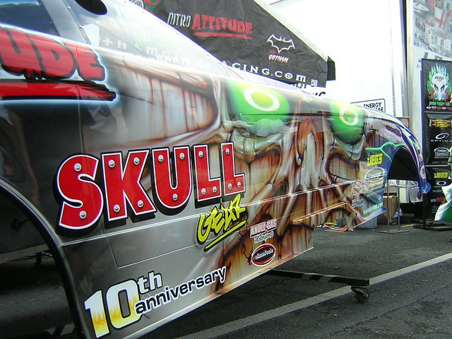 Skull Gear Funny Car   This is the Skull Gear Top Fuel Funny