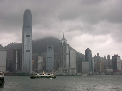 Hongkong (bad weather because a typhoon)