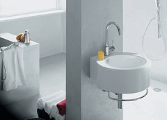 floor, room, plumbing fixture, tap, ceramic, bathroom, sink,