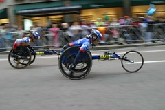 bicycle racing(0.0), road bicycle(0.0), road bicycle racing(0.0), cycle sport(0.0), road cycling(0.0), cycling(0.0), motorcycle speedway(0.0), bicycle(0.0), endurance sports(1.0), vehicle(1.0), sports(1.0), race(1.0), sports equipment(1.0), wheelchair racing(1.0),