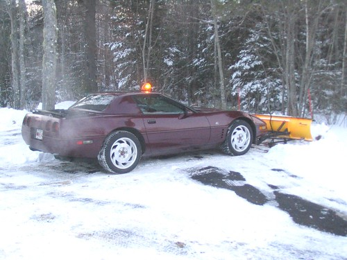 Corvette  -  poor man's plow ! by redvette