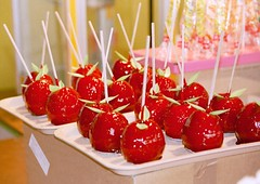 candy apple, fruit, food,