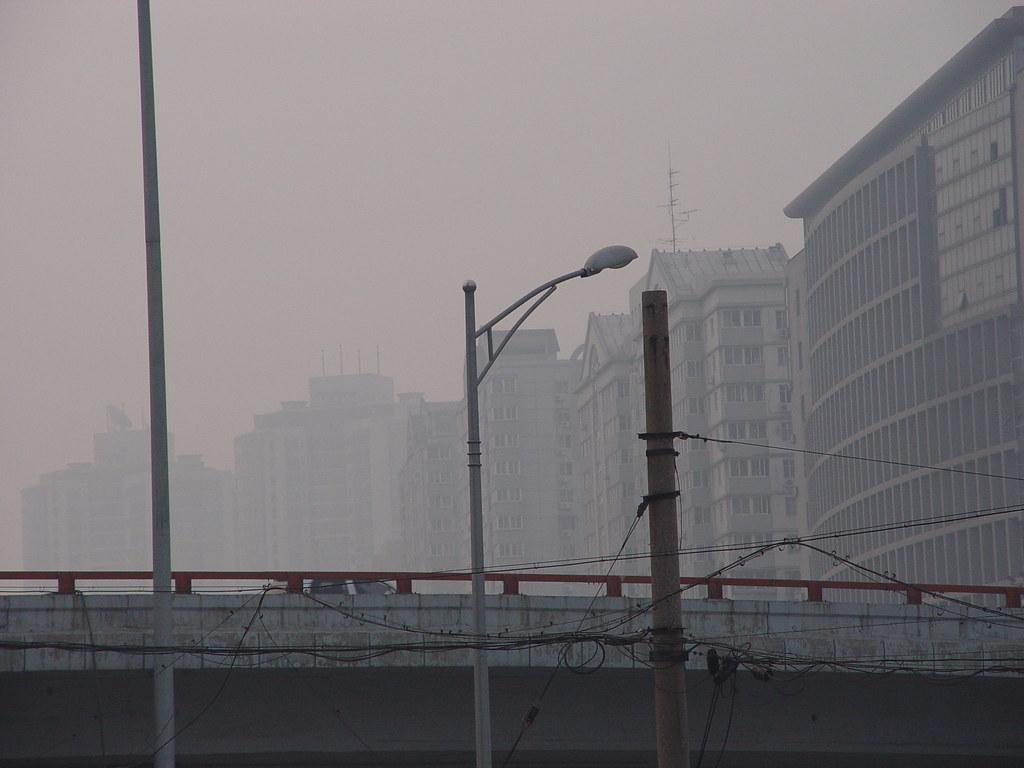 Beijing, smog 8/26/05