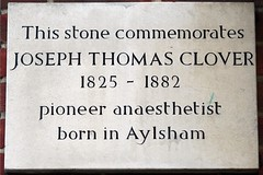 Photo of Joseph Thomas Clover plaque