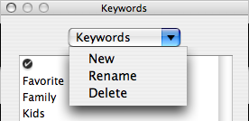 iPhoto new keyword