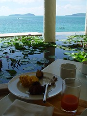 Thailand: A breakfast with a view of the Andaman Sea (Evason Hotel, Phuket).