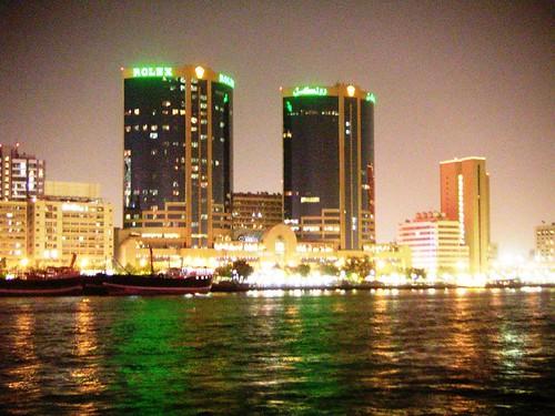 Dubai - by night, Dubai, Cruise, Deira Side, OFW, Travel, Employment, UAE